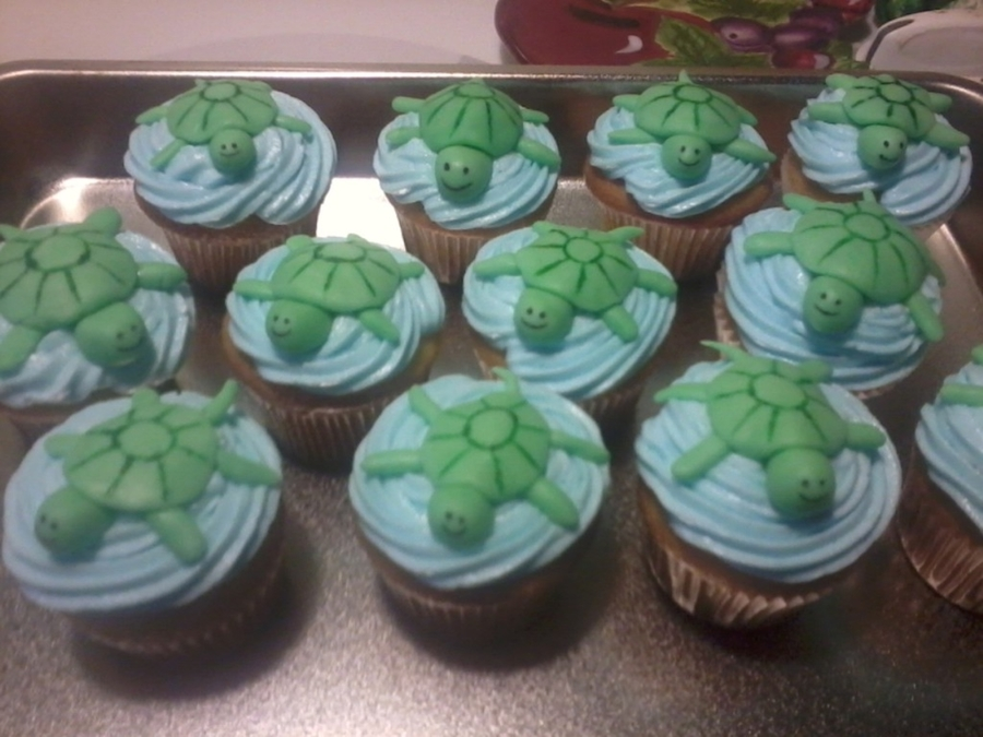 Turtle Mini-Cupcakes on Cake Central