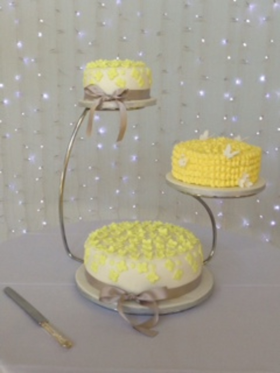 Yellow Hydrangeas And Butterflies on Cake Central