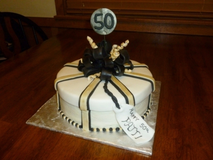 50Th Birthday Present Cake on Cake Central
