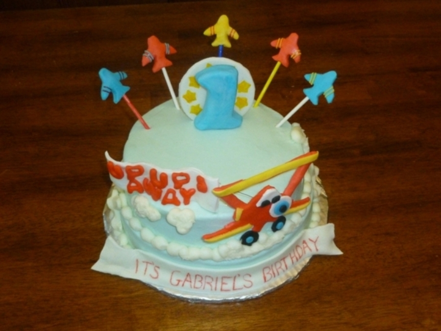 Airplane theme cake for Airplane cake decoration