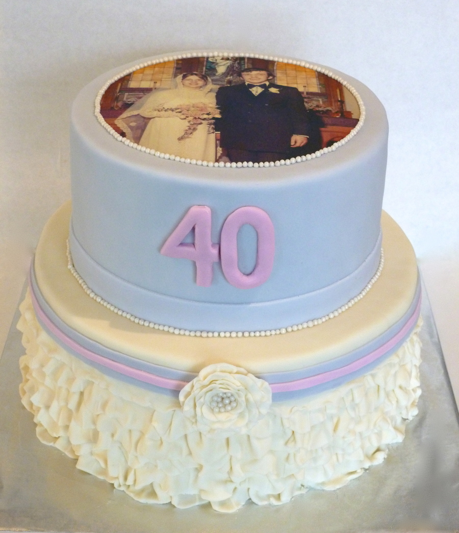 40Th Wedding Anniversay on Cake Central