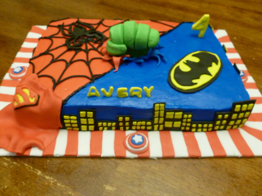 Avengers/superhero on Cake Central