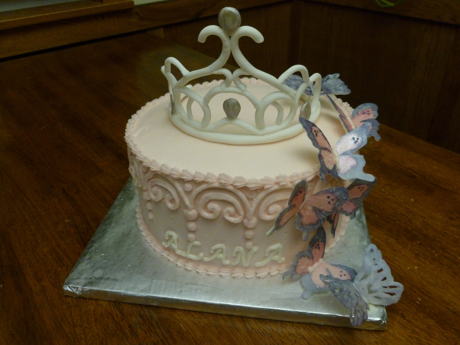 Butterfly/princess Cake on Cake Central