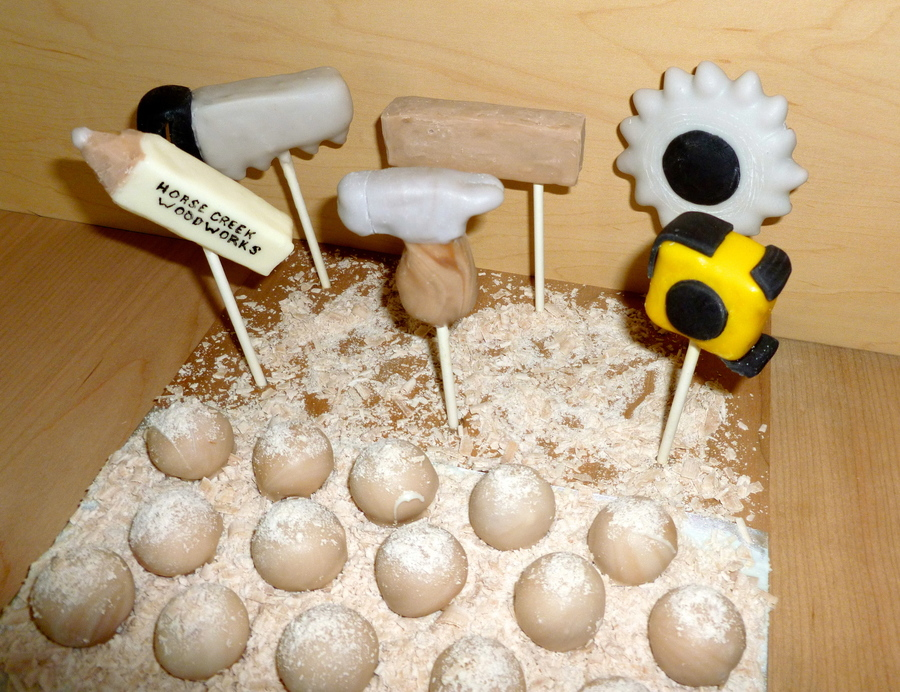 Wood Work Themed Cake Pops! on Cake Central