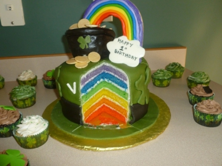 St Patricks Day1St Birthday Cake CakeCentralcom