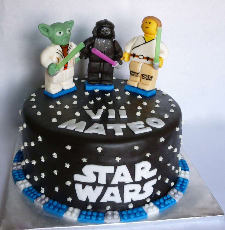 Star Warslego Birthday Cake Cakecentral