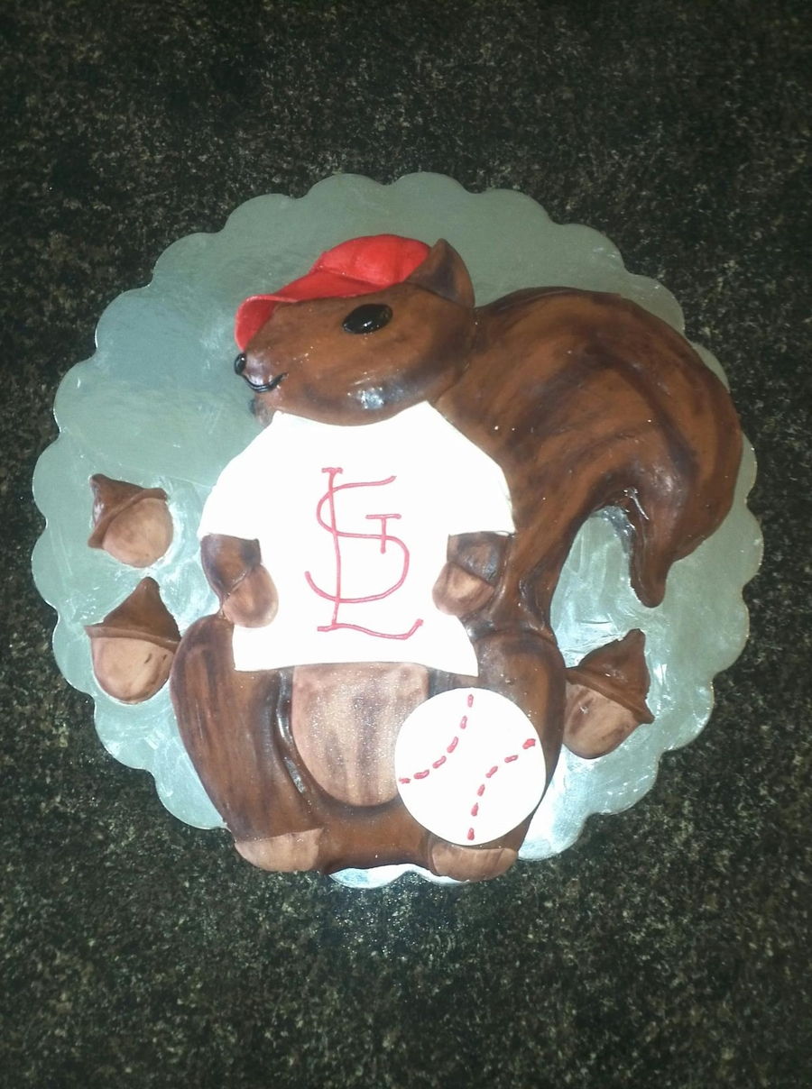 St Louis Rally Squirrel on Cake Central