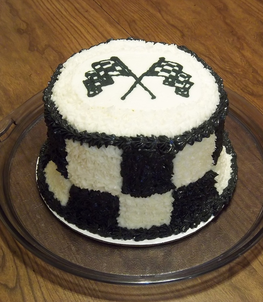 Cake Decorating Checkered Flag : Checkered Flag Cake - CakeCentral.com