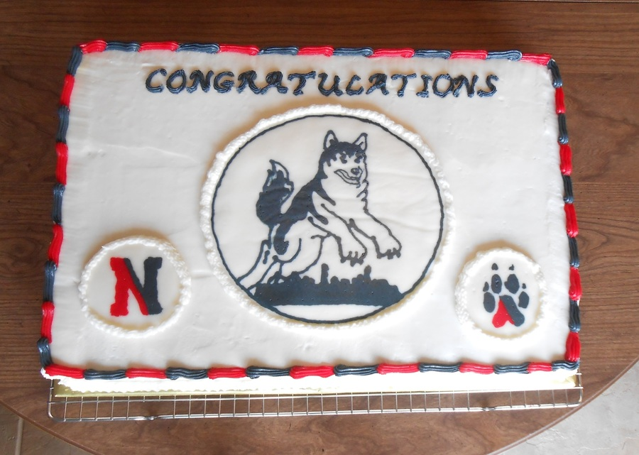 Northeastern University Huskies Graduation Cake on Cake Central
