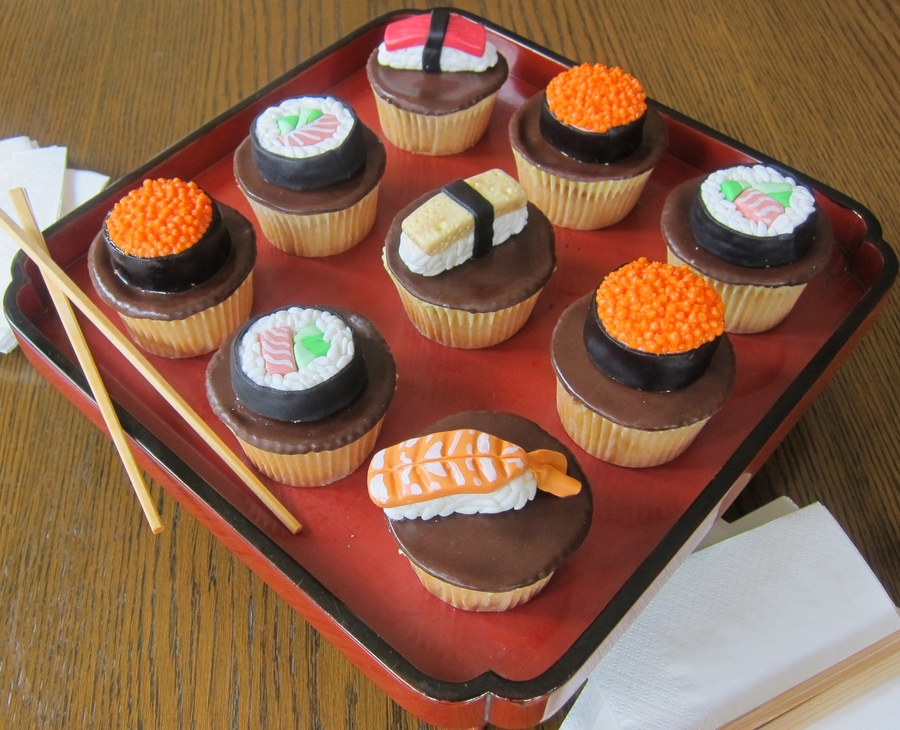Sushi Cupcakes on Cake Central