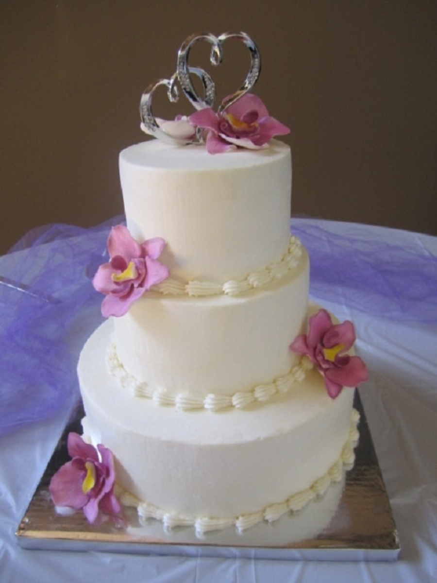 Buttercream Wedding Cake on Cake Central