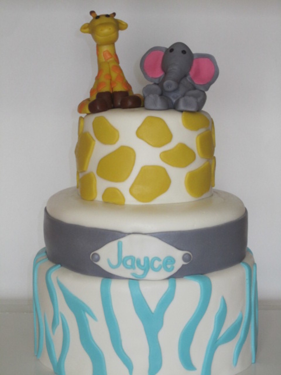 Animal Print Baby Shower Cake on Cake Central