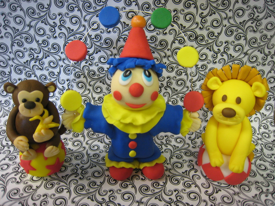 Fondant Figures For Circus Themed Birthday Cake on Cake Central