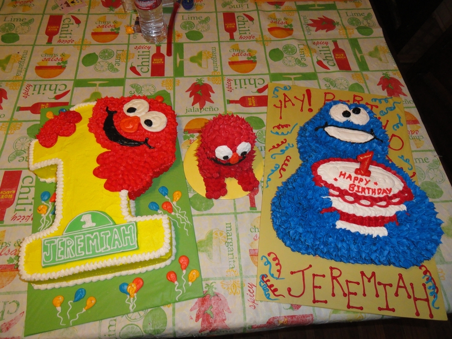 Elmo, Cookie Monster on Cake Central