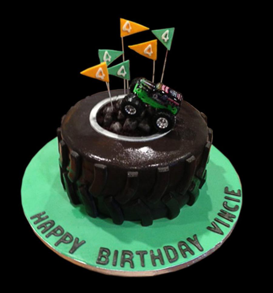 Grave Digger Monster Truck Birthday Cake Cakecentral