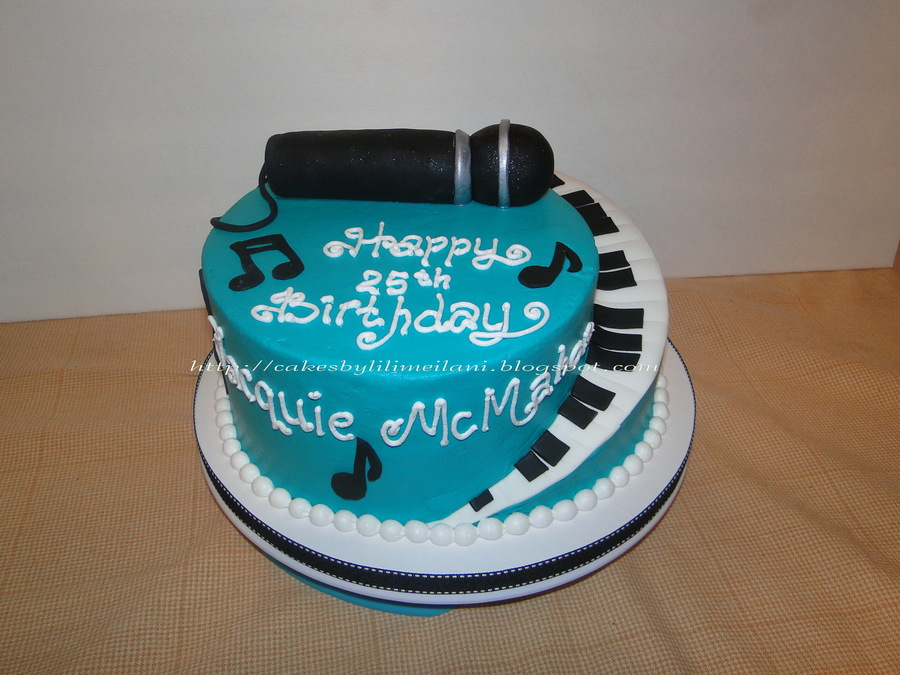 Fine Birthday Cake For A Girl Who Like To Sing Cakecentral Com Personalised Birthday Cards Paralily Jamesorg