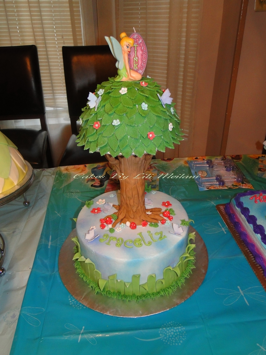 Tinker Bell Tree Birthday Cake  on Cake Central