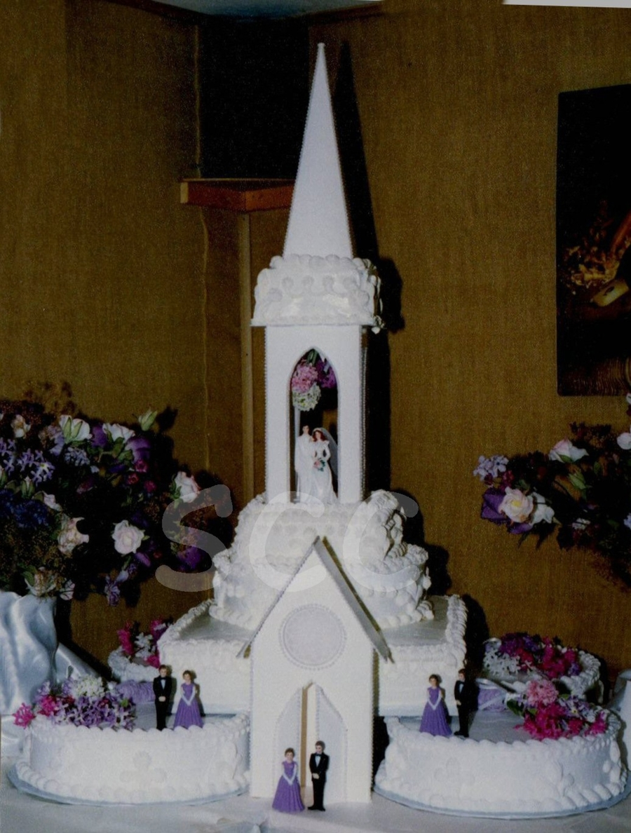 Cathedral Wedding Cake on Cake Central