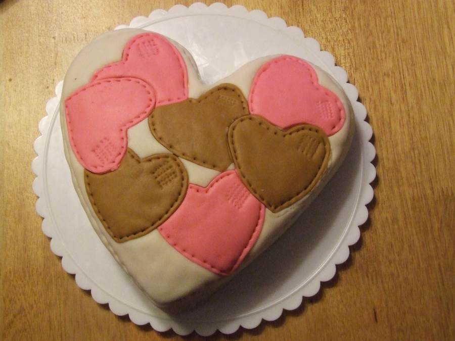 Hearts Cake on Cake Central