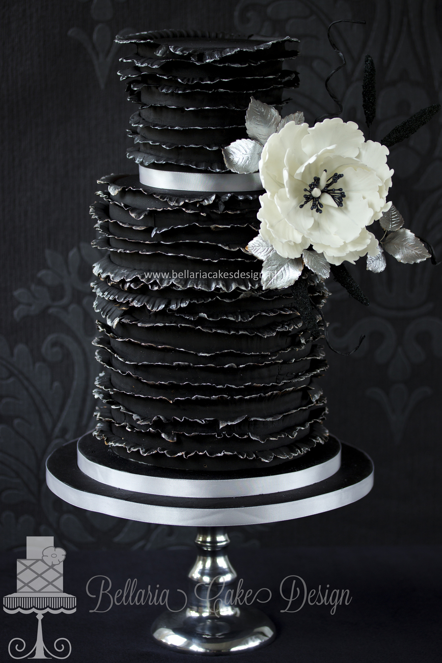 How Make A Black And Ehite Cake