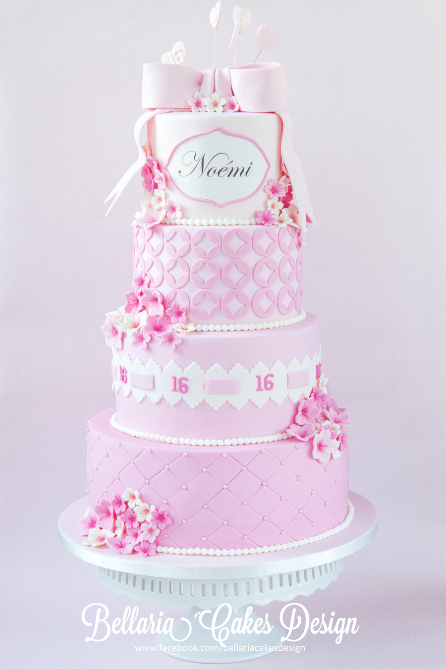 Pink Sweet Sixteen Birthday Cake - CakeCentral.com