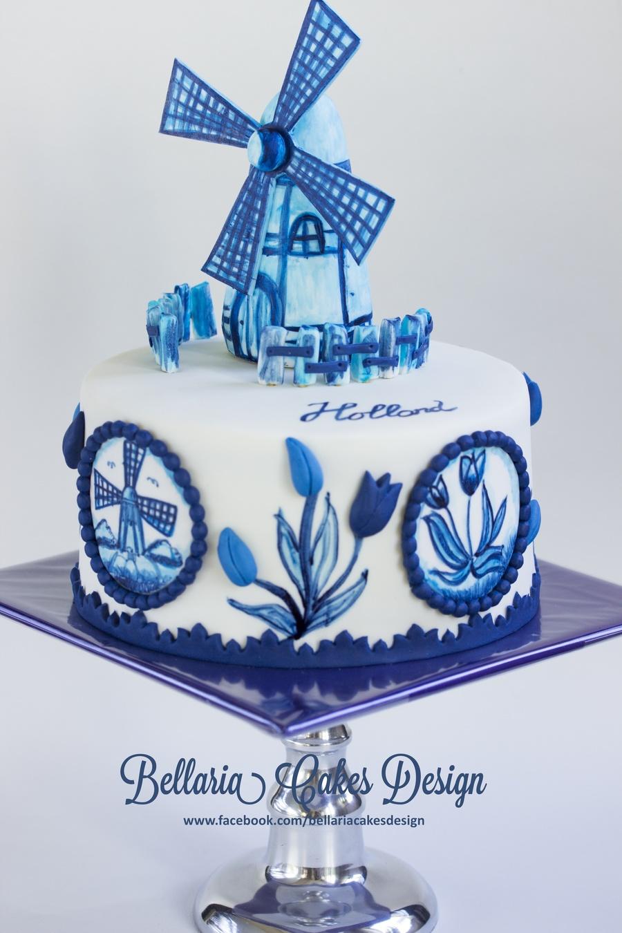 Hand Painted Delft Blue Delftware Cake Cakecentral Com