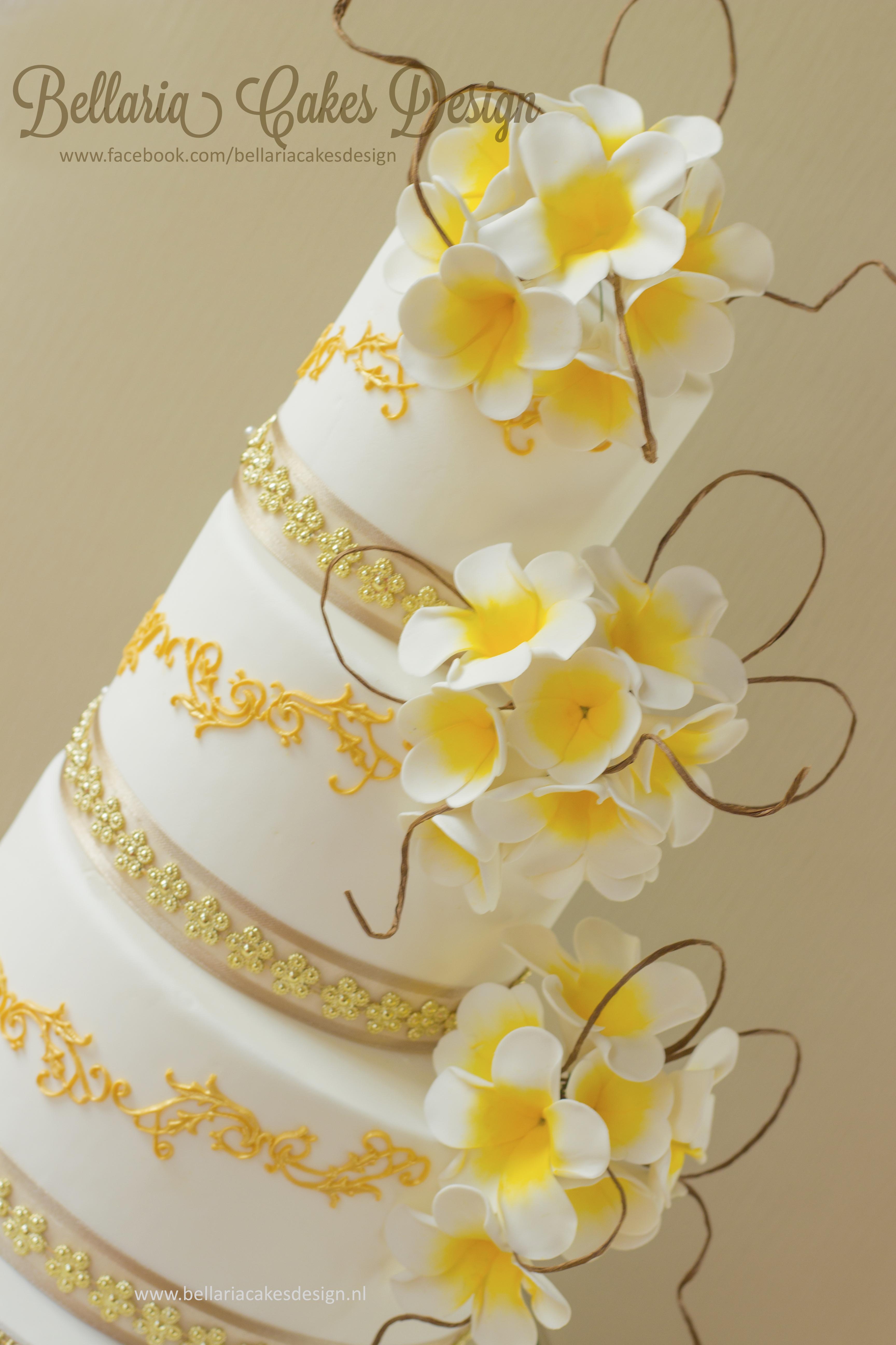 Bali Themed Wedding Cake - CakeCentral.com