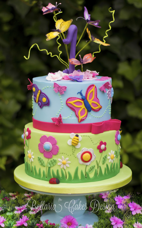Butterflies Garden Birthday Cake CakeCentralcom