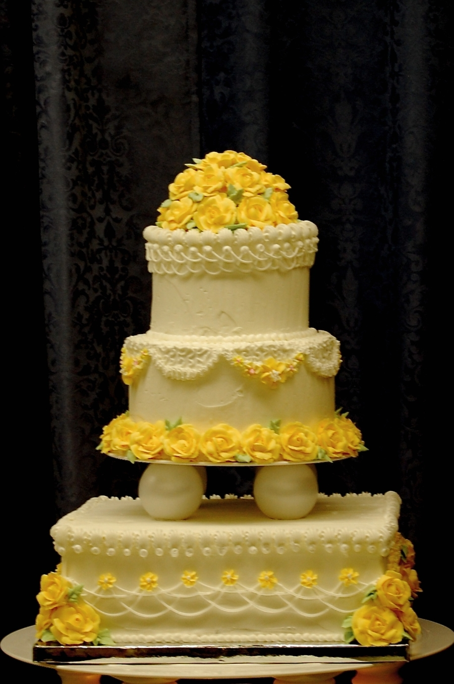 Class Wedding Cake on Cake Central
