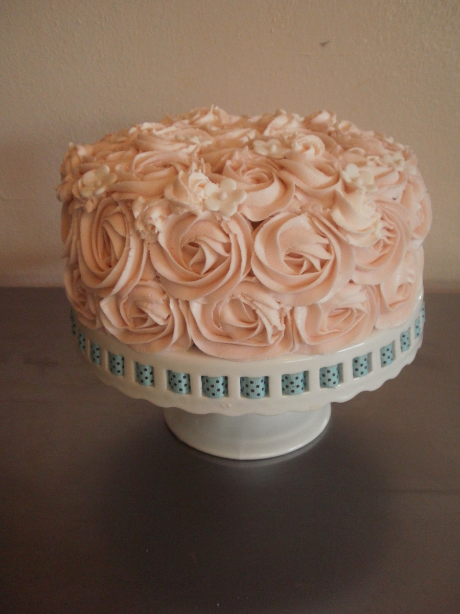 Swirl Rose Cake on Cake Central