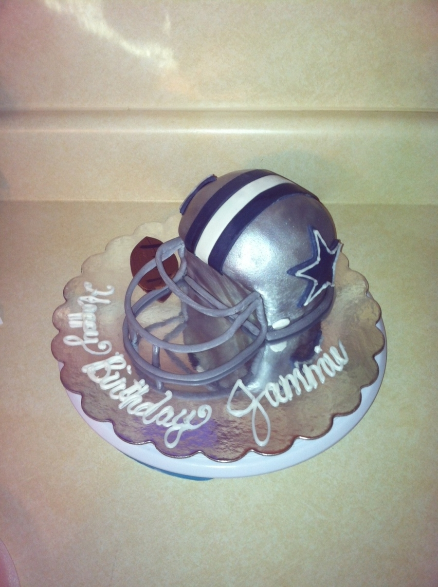 Dallas Cowyboys Helmet Cake on Cake Central