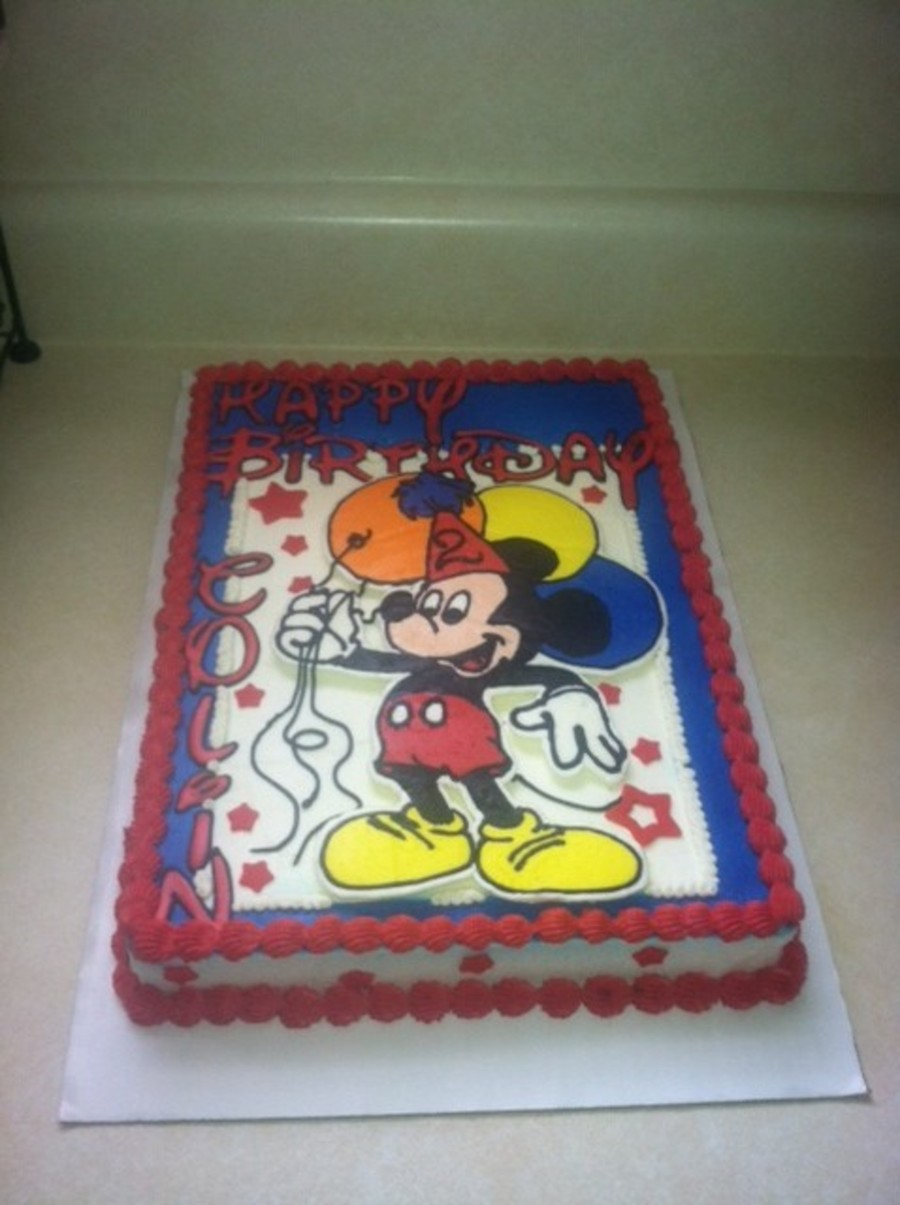 Mickey Mouse Birthday Sheet Cake Cakecentral