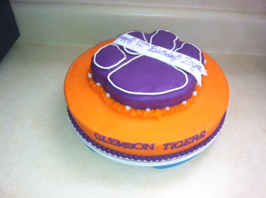 Clemson Tigers Birthday Cake Cakecentral