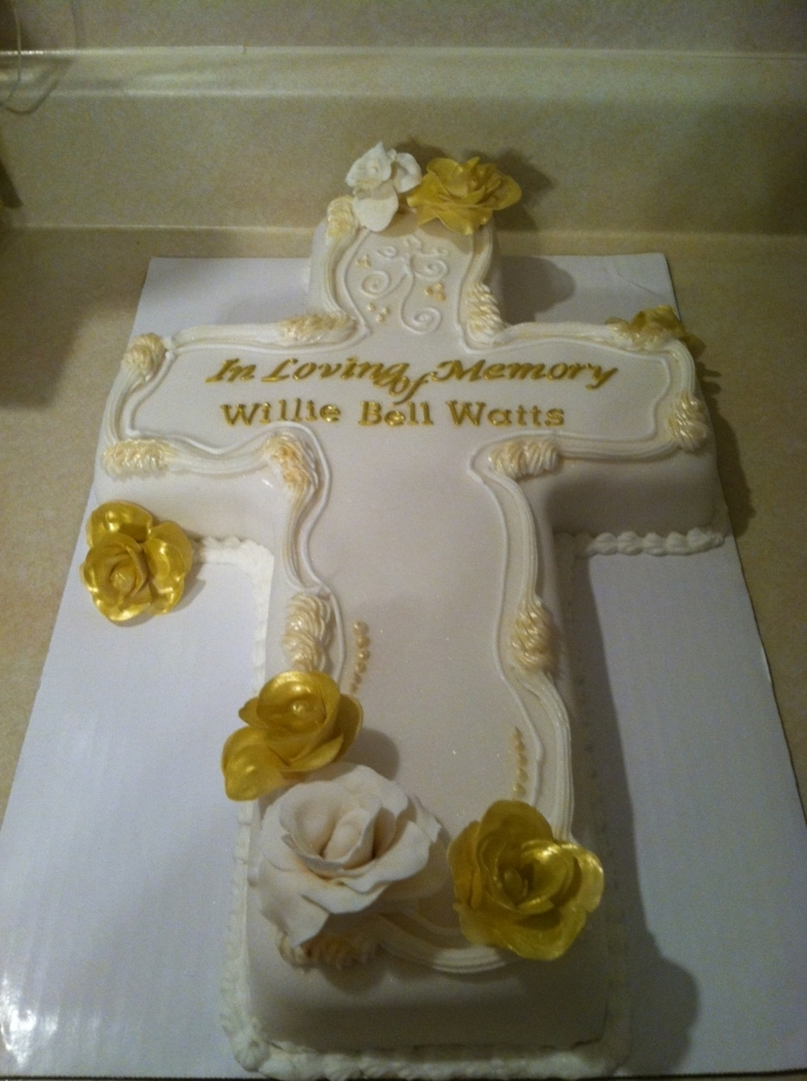 Memorial Cross Cake on Cake Central