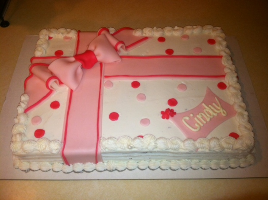 Present Birthday Sheet Cake Cakecentral Com