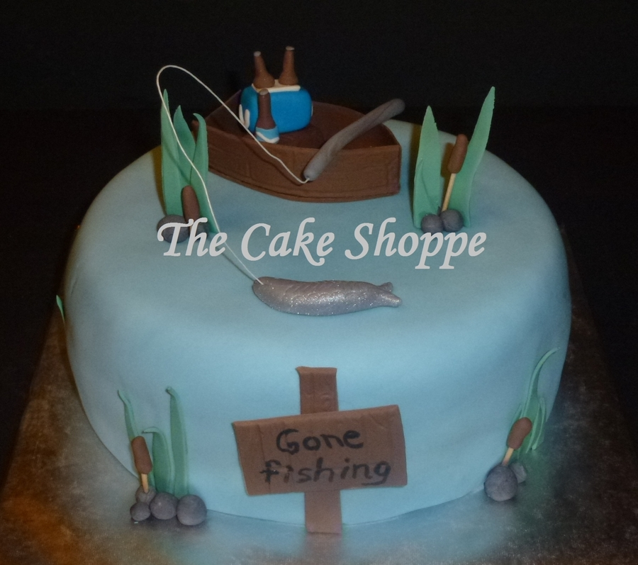 Gone Fishing Cake on Cake Central