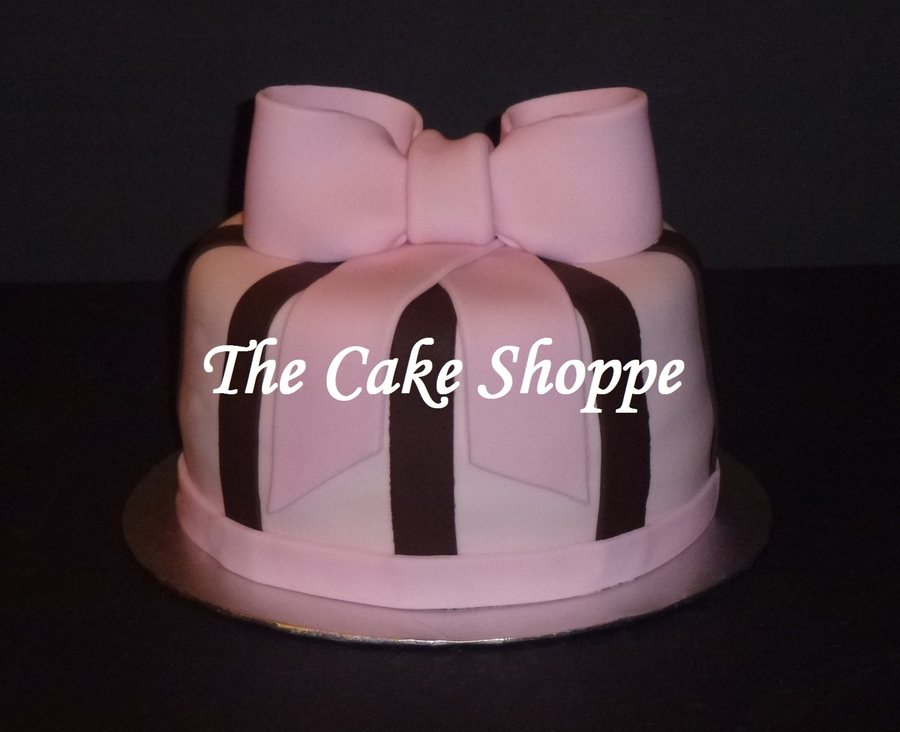 Pink And Brown Cake  on Cake Central