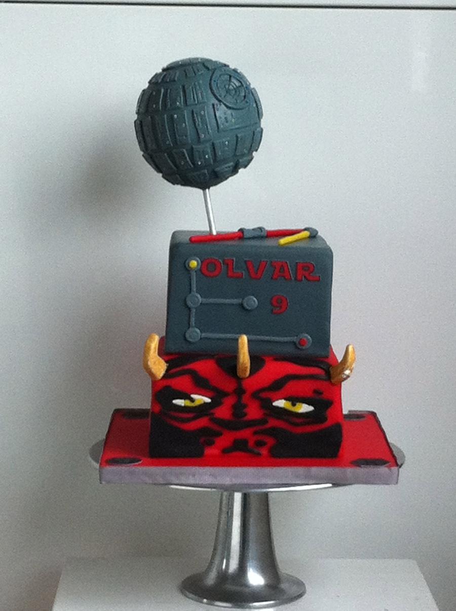 Star Wars Death Stardarth Maul Cake Cakecentral