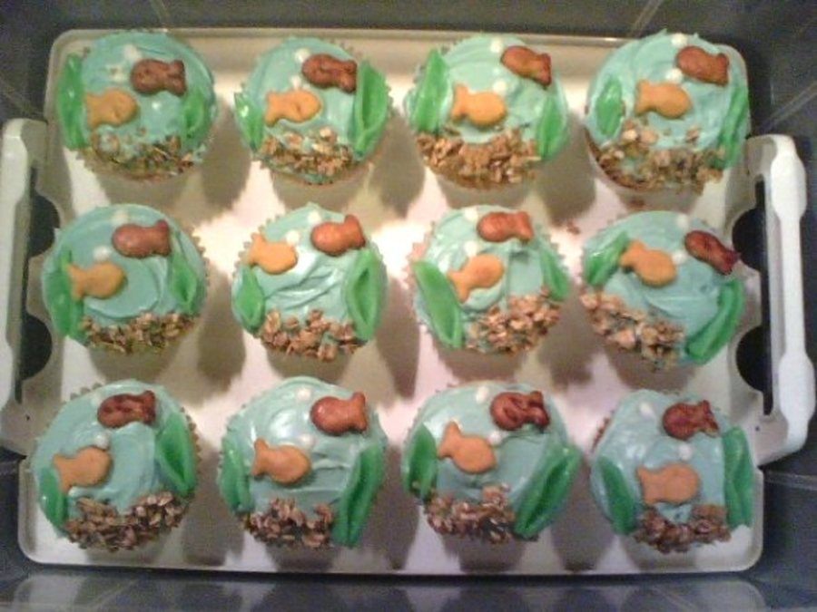 Goldfish Cupcakes on Cake Central