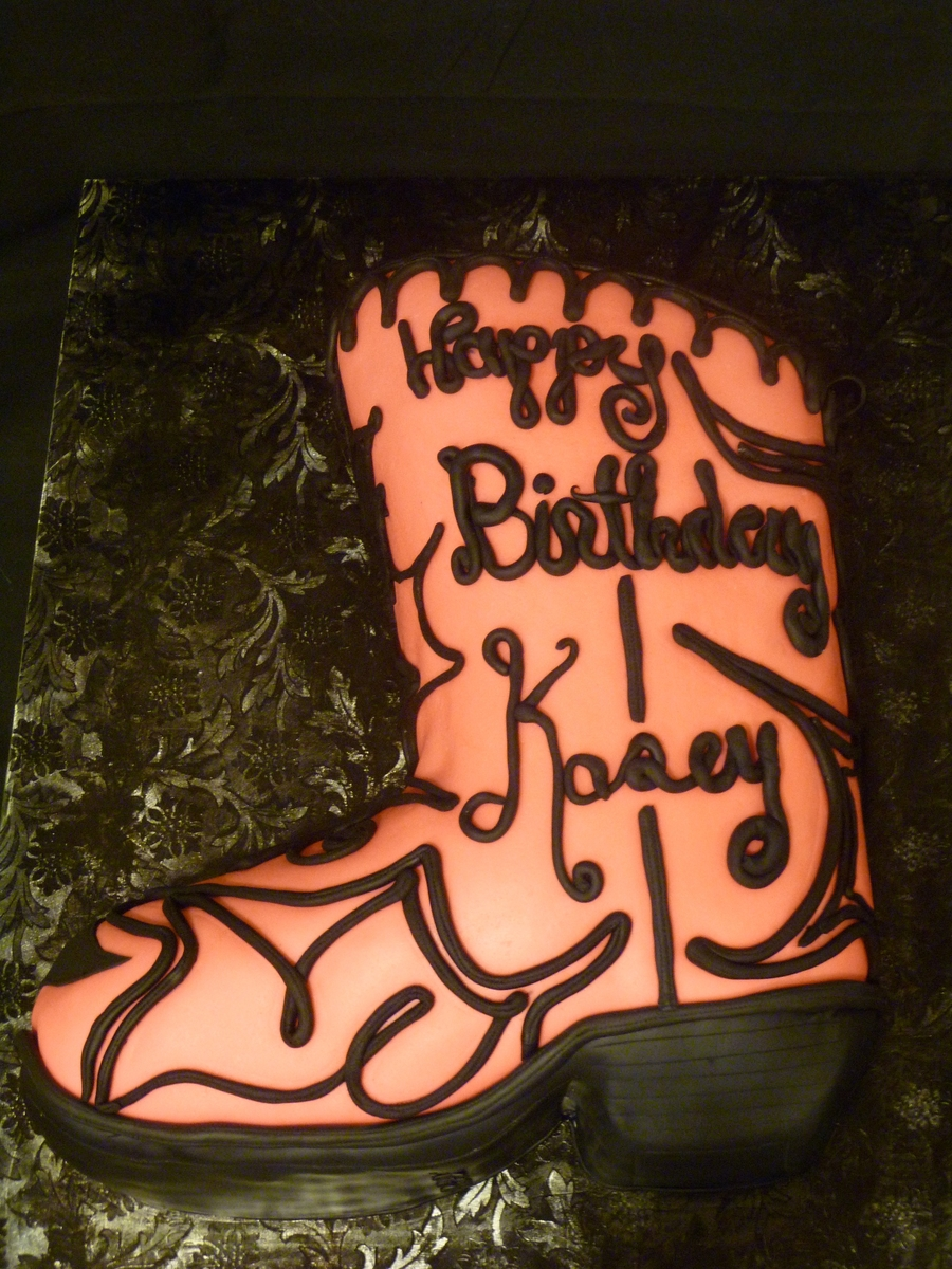 Pink Cowgirl Boot  on Cake Central