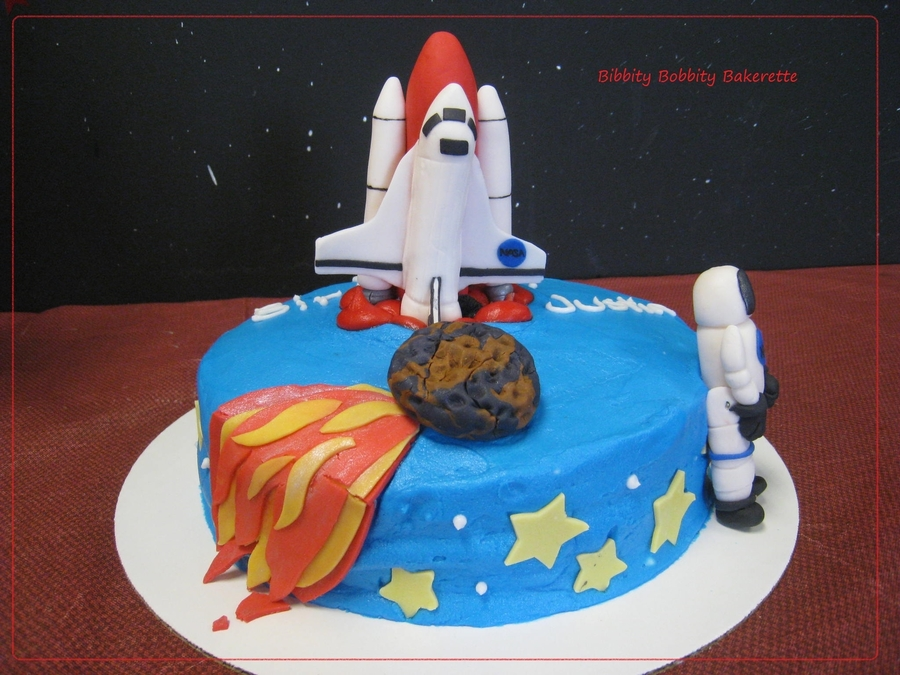 Year Boy Austronaut Birthday Cake Ideas