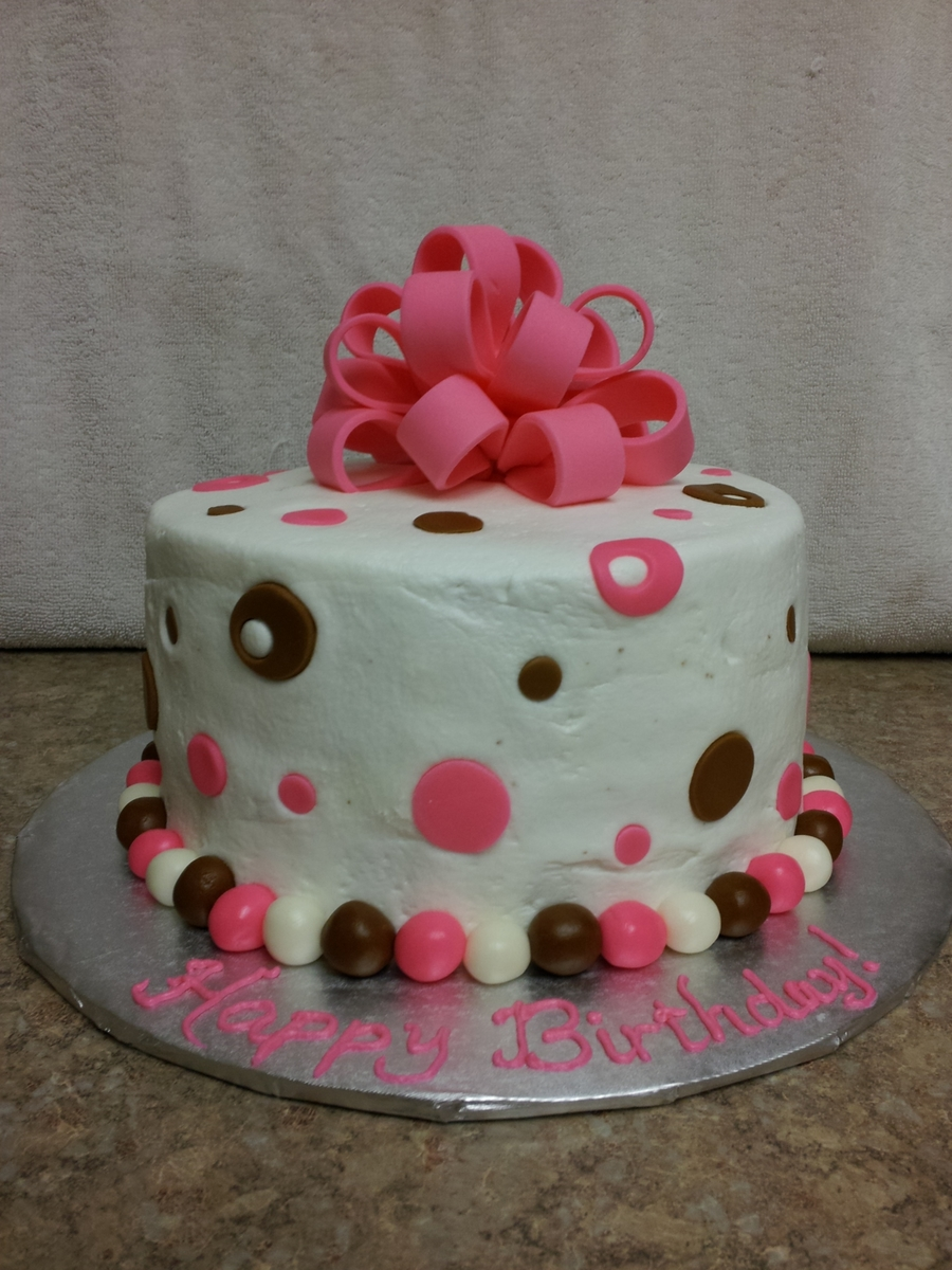 Pink Bow Cake on Cake Central