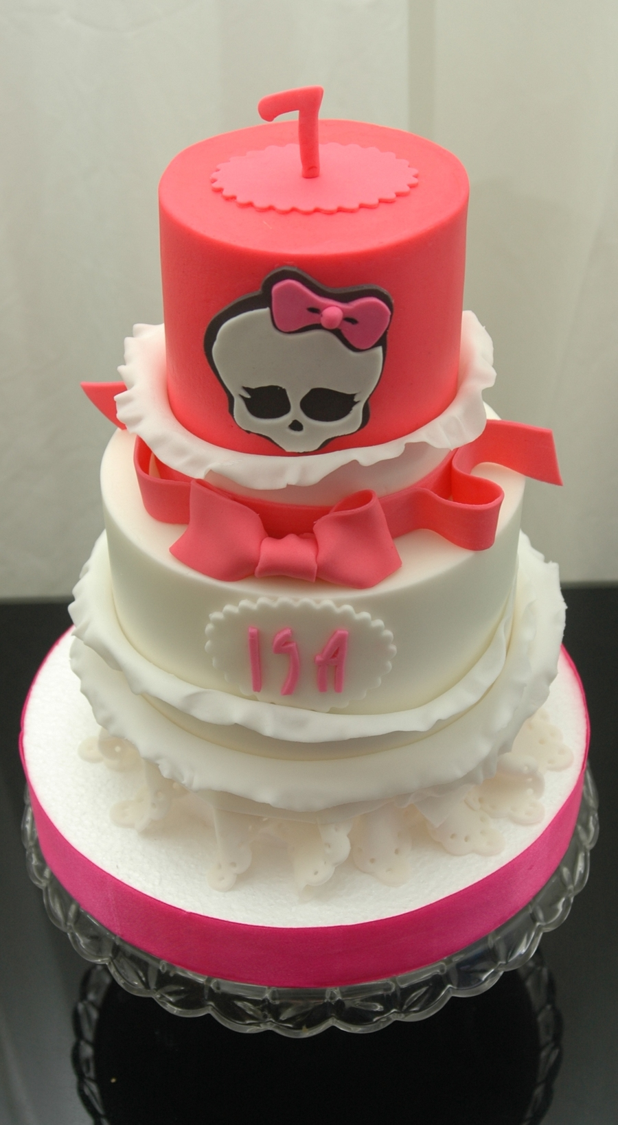 Monster High Cake Finished In Buttercream With Fondant Accents on Cake Central