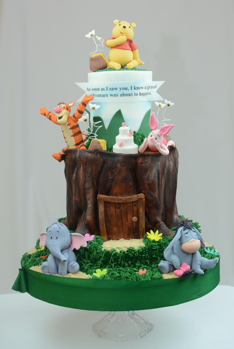 Winnie The Pooh Wedding Cake - CakeCentral.com