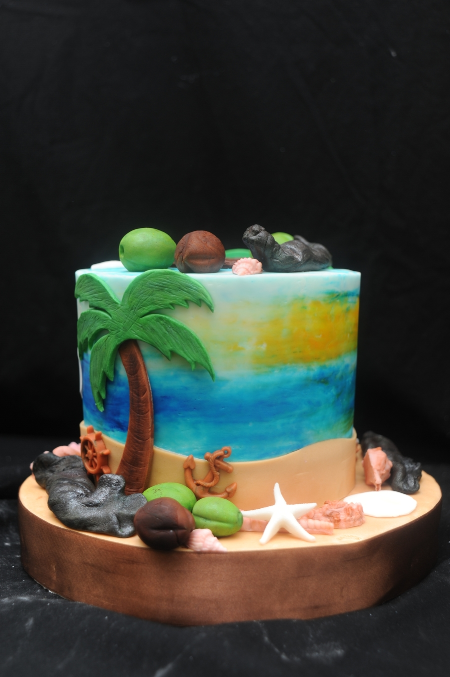 Beach Party Cake on Cake Central