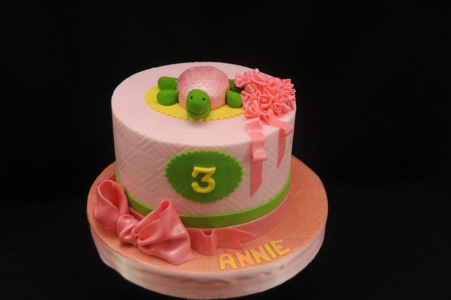 Turtle Cake In Pink on Cake Central