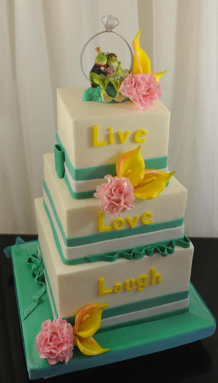 The Cake Was Requested By A Wonderful Customer Who Chose The Design Base On Two Of My Cakes It Is A 10Inch 8 Inch An Six Inch Cake Finishe... on Cake Central