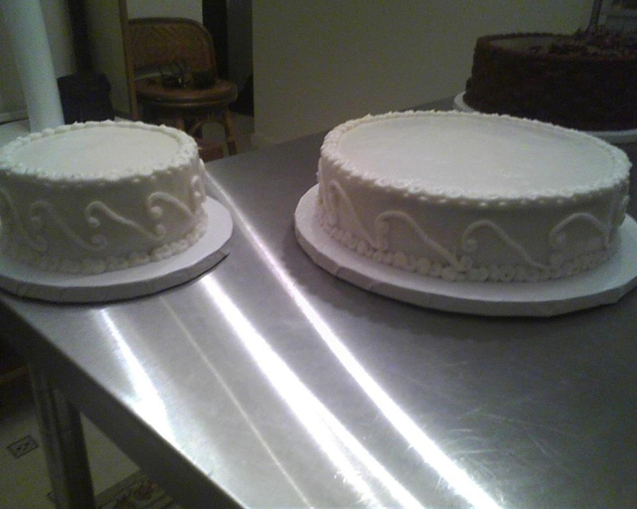 Yummy Wedding Cake Awaiting To Be Finished on Cake Central
