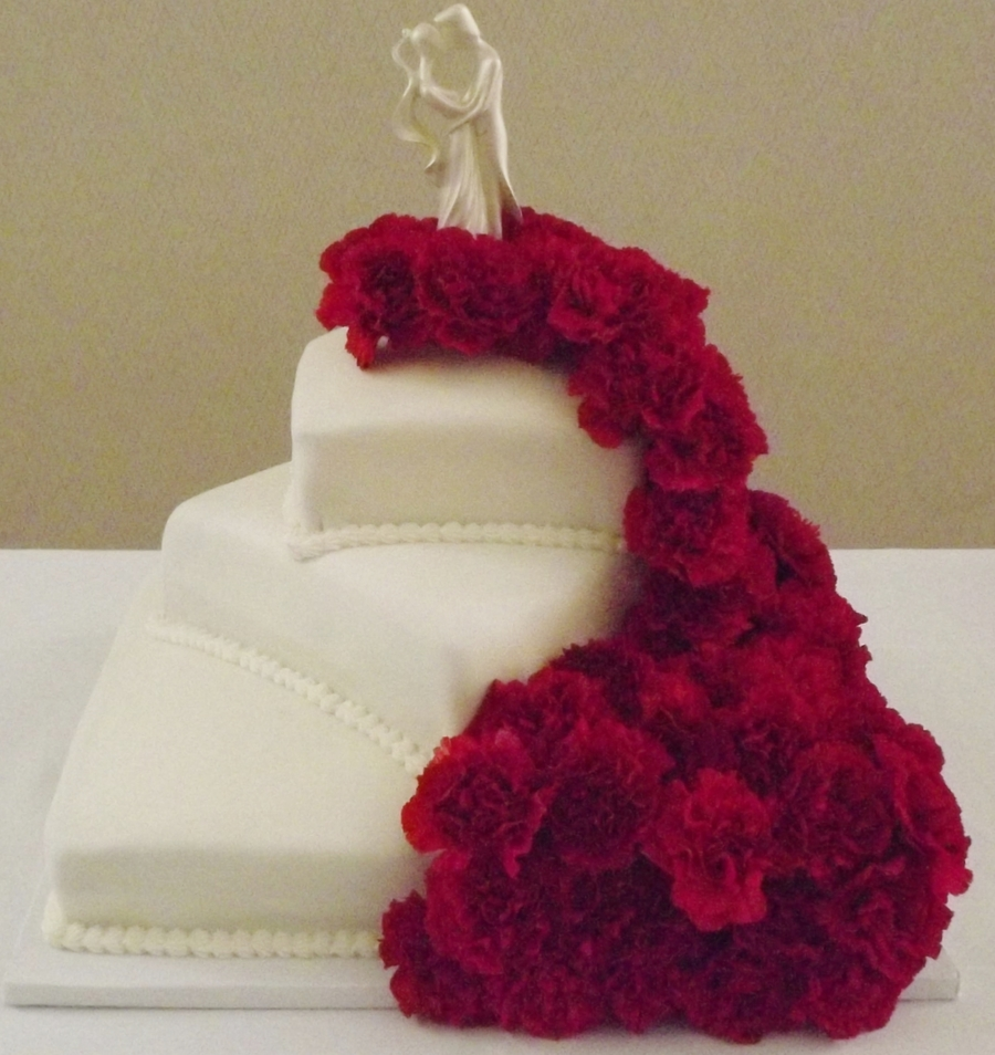 Cascading Falls Of Love!  on Cake Central