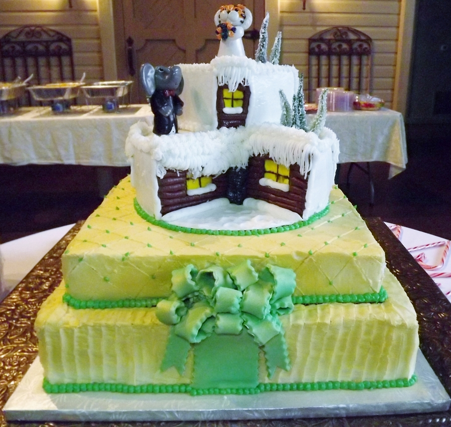 Winter Wonderland Wedding Cake  on Cake Central